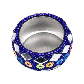 Artshai set of designer 12 diwali diya tealight holder, Blue Colour, Candle Holder
