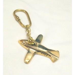 Artshai Brass Aeroplane Design Keychain