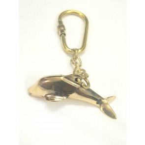 Artshai Brass Dolphin Fish Design Keychain
