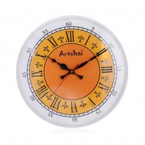 Artshai 12 inch Full Length Metallic Designer Wall Clock