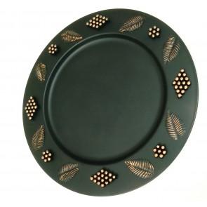Artshai Cake and Desserts Serving Platter Black Colour 14 inch Size