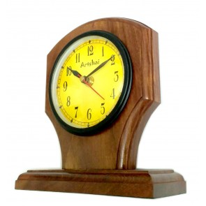 Roman number dial table clock. Dial size is 4 inches