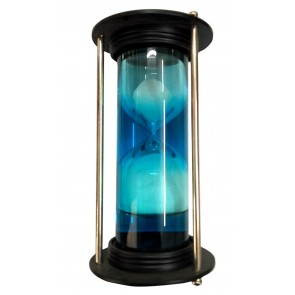Artshai Desginer Blue Colour Hourglass with Sand and Water