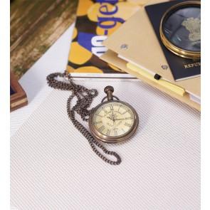 Artshai Antique look Victoria London Design Pocket watch with chain and Wooden box, Handmade, Artshai355