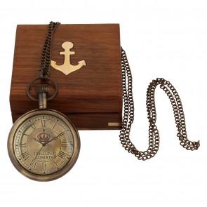 Artshai Antique Look Pocket watch with Sheesham wood box. Dollond london style.