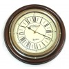 Artshai Silent Antique Look Wood And Brass Wall Clock. 12 Inch Size