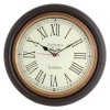 Artshai Antique Look Silent Wall Clock. 16 Inch Big Size With Brass Ring