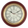 Artshai Antique Look Wall Clock, 12 inch Brass and Wooden