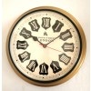 Artshai 12 inch Vintage style metal wall clock with roman numbers dial