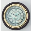 Artshai Brass and wood silent wall clock with brass ring. 12 inch size,vintage style.